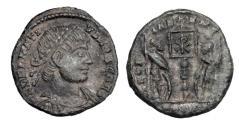 Ancient Coins - DELMATIUS, 335-337.  Æ Reduced Follis.  Very Rare,