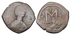 Ancient Coins - BYZANTINE EMPIRE.  Justin I & Justinian I, Joint reign, April 4-August 1, 527 AD.  Æ Follis.