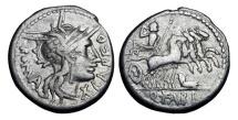 Ancient Coins - ROMAN REPUBLIC.  Q. Fabius Labeo, 124 BC.  AR Denarius …