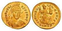 Ancient Coins - HONORIUS, 393-423 AD.  Gold Solidus.