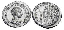 Ancient Coins - DIADUMENIAN, 218 AD.  AR Denarius …