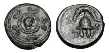 Ancient Coins - KINGDOM of MACEDON.   323-310 BC  Æ17 Half Unit.