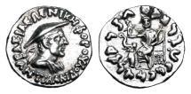 Ancient Coins - BAKTRIAN KINGDOM.  Antialkidas, 115-95 BC.  AR Drachm.