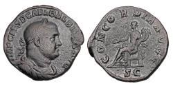Ancient Coins - BALBINUS, 238 AD.  ® Sestertius.