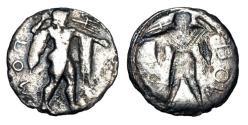 Ancient Coins - LUCANIA, Poseidonia 469-460 BC.  AR Drachm.  ex. Glendinings,1980.