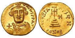 Ancient Coins - BYZANTINE EMPIRE.  Constans II, 641-668 AD.  Gold Solidus.