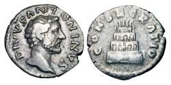 Ancient Coins - ANTONINUS PIUS, 138-161 AD.  AR Posthumous Denarius