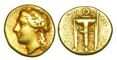 Ancient Coins - SICILY, Syracuse.  Agathokles, 317-289 BC.  Electrum 25 Litrae.