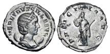 Ancient Coins - HERENNIA ETRUSCILLA, wife of Decius, 249-251 AD.  AR Antoninianus