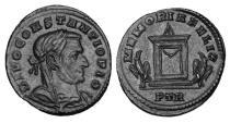 Ancient Coins - CONSTANTIUS I, 305-306 AD.  AE Memorial Follis.  Rare.