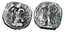 Ancient Coins - KUSHANO-SASANIANS.  Varhran Kushanshah III, 356-400 AD.  AR Unit