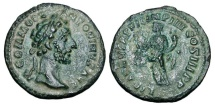 Ancient Coins - COMMODUS, 180-192 AD.  AE Semis