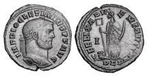 Ancient Coins - DIOCLETIAN, 285-305 AD.  Æ Follis.  Africa standing.  Rare