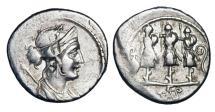 Ancient Coins - ROMAN REPUBLIC.  Faustus Cornelius Sulla, 56 BC.  AR Denarius.
