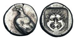 Ancient Coins - TROAS, Abydos.  480-450 BC.  AR Drachm.  Rare.