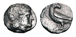 "Ancient Coins - BAKTRIA.   Pre Seleukid Period, 325-300 BC.   ""Eagle Series"" AR Drachm.  ex PNC collection."