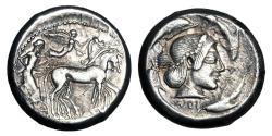 Ancient Coins - SICILY, Syracuse.  Deinomenid Tyranny, 485-466 BC.  AR Tetradrachm.  ex Arpasi collection.