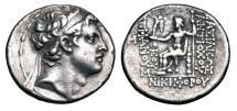 Ancient Coins - SELEUKID KINGDOM.  Antiochos IV, 175-164 BC.  AR Tetradrachm.   ex. RJM collection.