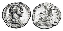 Ancient Coins - TRAJAN, 98-117 AD.  AR Denarius.
