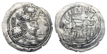 Ancient Coins - KUSHANO-SASANIANS.  Varhran, after 388 AD.  AR Drachm.