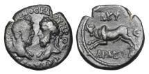 Ancient Coins - PHOENICIA, Aradus.  Marcus Aurelius and Lucius Verus, 161-169 AD.  AE22.