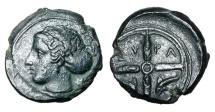 Ancient Coins - SICILY, Syracuse.  After 425 BC.  Æ16
