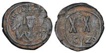Ancient Coins - BYZANTINE EMPIRE.  Phokas, 602-610 AD.  Æ Half Follis.