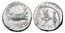 Ancient Coins - MARC ANTONY.  died 30 BC.  AR Denarius.