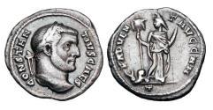 Ancient Coins - CONSTANTIUS I, 306-307 AD.  AR Argentus.  Rare.