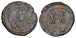 Ancient Coins - BYZANTINE EMPIRE.  Phokas, 602-610 AD.  Æ Half Follis.