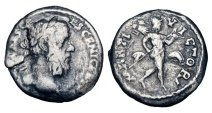 Ancient Coins - PESCENNIUS NIGER, 193-194 AD.  AR Denarius. Extremely Rare, unpublished variety.  ex R Forman collection.