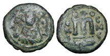 Ancient Coins - ARAB-BYZANTINE.  635-670 AD.  Æ Fals …