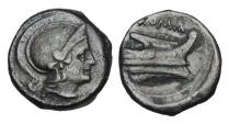 ROMAN REPUBLIC.  Anonymous Semilibral Series, 217-215 BC.  AE Quartuncia