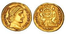 Ancient Coins - CONSTANTIUS II, 337-361 AD.  Gold Solidus.  Rare.
