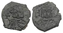 Ancient Coins - BYZANTINE EMPIRE.  Leo V the Armenian, 813-820 AD.  AE Follis.