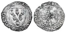 Ancient Coins - FRANCE, Brittany.  Francois II, 1458-1488 AD.  AR Gros .
