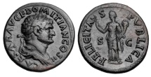 Ancient Coins - DOMITIAN, 81-96 AD.  AE As.