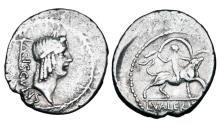 Ancient Coins - ROMAN REPUBLIC.  L. Valerius Acisculus, 45 BC.  AR Denarius.