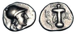 Ancient Coins - CARIA, Kaunos.  166-150 BC.  AR Hemidrachm.