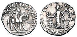 Ancient Coins - INDO-SCYTHIANS.  Azilises, 85-35 BC.  AR Drachm.  ex PNC collection.