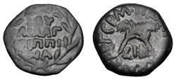 Ancient Coins - JUDAEA.  Antonius Felix, 52-60 AD.  Æ Prutah.