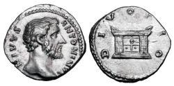 Ancient Coins - ANTONINUS PIUS, 138-161 AD.  AR Posthumous Denarius.