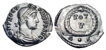 Ancient Coins - PROCOPIUS, 365-366 AD.  AR Siliqua.  Very Rare.