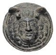 Ancient Coins - Bronze Applique Medusa Head.  Roman, I-II Century AD.  Outstanding.  ex Gilman collection.