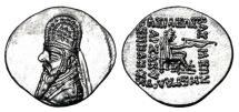 Ancient Coins - PARTHIAN EMPIRE.  Mithradates II, 123-88 BC.  AR Drachm.