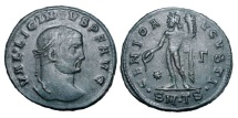 Ancient Coins - LICINIUS I, 307-323 AD.  Æ Large Module Follis of Thessalonika, 311.