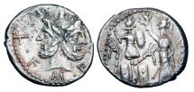 Ancient Coins - ROMAN REPUBLIC.  M. Furius L. f. Philus, 119 BC.  AR Denarius.