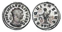 Ancient Coins - TACITUS, 275-276 AD.  Silvered Æ Antoninianus.  ex Hoffman collection.