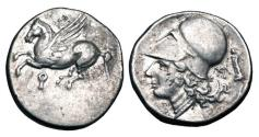 Ancient Coins - CORINTH.  345-307 BC.  AR Stater.