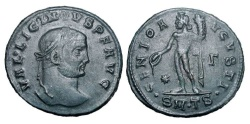 World Coins - LICINIUS I, 307-323 AD.  Æ Large Module Follis of Thessalonika, 311.